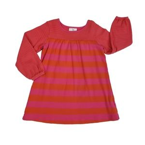Hanna Andersson Play Dress Pink Orange Stripe 100